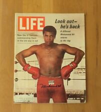 Muhammad Ali Hand Signed Autographed Official Life Magazine Oct 1970