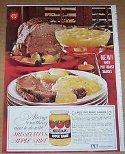 1964 vintage ad - Musselman's Apple Sauce beef pot roast sauces recipe PRINT AD
