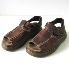 Dr Martens Leather Sandals Made in England Size Eur 39 US Women's 8 Brown