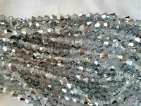 Joblot of 10strings silver two tone 6mm bicone shape Crystal beads new wholesale