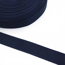 New 5 yards Length 3/4 Inch Width(20mm) Nylon Webbing Strapping Deep Blue