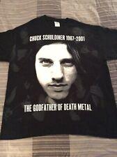 CHUCK SCHULDINER Allover Shirt XL, Morgoth, Bolt Thrower, Sadus, Sacred Reich