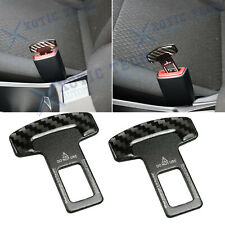 New Black Car Seat Belt Clip Clamp Cover Safety Seatbelt Buckle Alarm Stopper