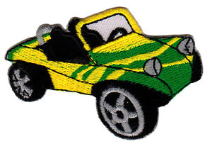 ab20 Buggy Strand Auto Fahrzeug Aufnäher Bügelbild Car Applikation 7,4 x 4,8 cm