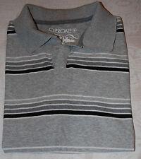 Men's T-Shirt Size Small 100% soft cotton grey striped