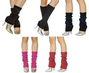 Sparkle Leg Warmers Metallic Knee High Knit Retro Dance 80s Costume LW102