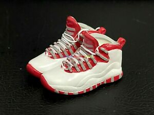 """1/6 Shoes Basketball Sneakers AJ10 Red Steel For 12"""" Action Figure Toy Collect"""