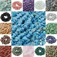 Drilled Crushed Tumbled Stone Various Reiki Gemstone Crystal Chips Fit Decor DIY