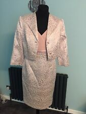 MOTHER OF THE BRIDE DRESS AND JACKET SIZE 12 PINK VEROMIA