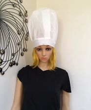 White chef hat kitchen cooking baker cap chefs costume accessory