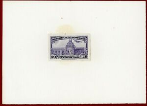 Honduras 1930 #C44, Plate Proof on Card, National Palace, ABNC