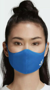 Adidas Face Cover Mask Breathable Brand New Reusable Size XSmall to Small Blue