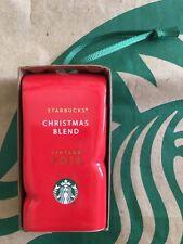 Starbucks Coffee 2016 Red Coffee Bag Ceramic Holiday Christmas ORNAMENT NWT