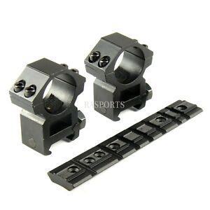 1 Pair Medium PROFILE 25.4MM RINGS + RUGER 1022 10/22 BASE SCOPE MOUNT