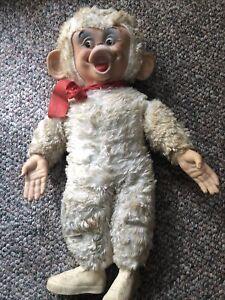 "Vintage Rubber Face Monkey, Rushton Era, 26"""