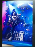 Genuine GENE SIMMONS of KISS 12x8 signed photo with coa SUPERB AND READY FRAMING