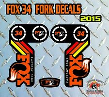 Fox 34 2015 FORK Stickers Decals Graphics Mountain Bike Down Hill MTB