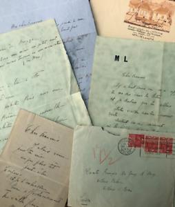 Marie LAURENCIN - Ensemble de 5 lettres autographes signées à François de Gouy