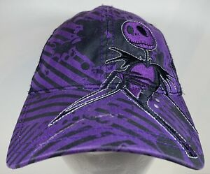 Nightmare Before Christmas Cap Jack Nbc Black Disney Hat Snapback Purple