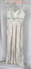 Dollar Women's Pearl Gray Silk Jeweled Evening Formal Party Vintage Dress Size S
