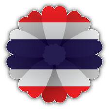 Thailand Flag Flower Car Bumper Sticker Decal 5'' x 5''