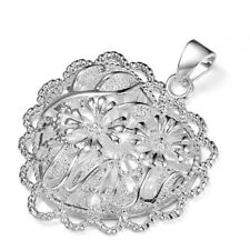 Big Promotions Fashion Silver Flower Peach Heart Best Holiday Gifts Pendants