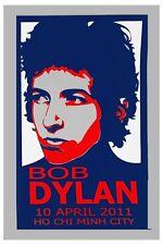 Bob Dylan in Ho Chi Min City Vietnam Concert Poster 2011 12x18