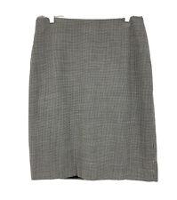 Linda Allard Ellen Tracy NWT Women's Size 12 Large Pencil Skirt Wool Blend Check