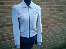 NEW LOOK VINTAGE COLLECTION SUEDE BOMBER STYLE JACKET SZ 8 BNWT