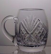 LEAD Crystal CUT GLASS TANKARD con inciso Darby Golf Club