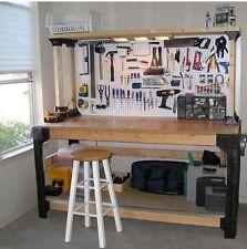 Heavy Duty Workbench Kit For Organizing The Garage DIY Table Shelves Storage