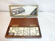 Cribbage Board And Box With Dominoes And Pegs, The Gentleman's Domino Set, wood.