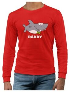 Shark Shirt for Dad Father's Day Family Daddy Long Sleeve T-Shirt