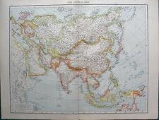 1893 Antique Map - Asia, General Map