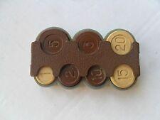 Vintage Soviet USSR 1 2 3 5 10 15 20 Coin Coins Money Holder Case