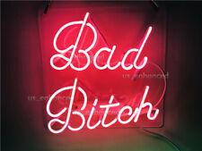 New Pink Bad Bitch Wall Decor Bedroom Light Lamp Acrylic Neon Sign 14''