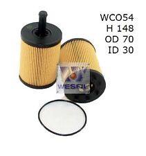 WESFIL OIL FILTER FOR Audi A3 1.9L TDi, 2.0L TDi 2006-01/10 WCO54