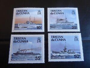 TRISTAN DA CUNHA 1991 SG 509-512 SHIPS OF THE ROYAL NAVY (2ND SERIES) MNH