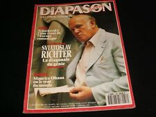 DIAPASON FRENCH MAGAZINE<> JANUARY 1993  #389 <> SVIATOSLAV RICHTER