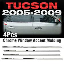 Chrome Window Accent Garnish Molding 4P Set A868 For HYUNDAI 2005-2009 Tucson