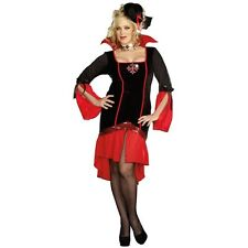 Lady VAMPS LIKE US Vampire Costume Goth Dress + Hat Adult XL Plus 1X 2X 16 18