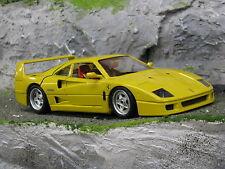Bburago Ferrari F40 1:18 Yellow