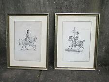 Military Prints Picture Cavalry Vintage Garde Royale De Corps Matt Frame Set 2