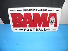 NCAA ALABAMA CRIMSON TIDE-CENTURY OF CHAMPIONS(1892-1992) FOOTBALL PLATE