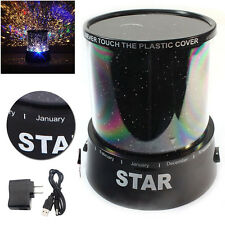 Romantic LED Starry Night Sky Projector Lamp Star Light Random Color and Adapter