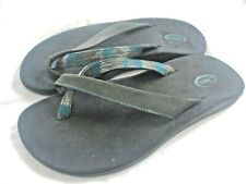 Chaco Tanana Women's Toe Loop Flip Flops Thong Sandals Size 7 Gray Blue