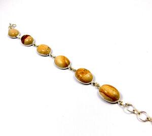Picture Jasper .925 Silver Plated Handmade Bracelet Jewelry IJC10963