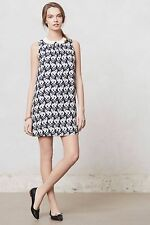 NEW ANTHROPOLOGIE Chaton Shift Dress L Large by Postmark Cat Print