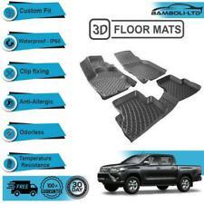 3D Molded Interior Car Floor Mat for Toyota Hilux 2015>UP(Black)