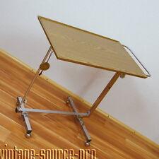 altes Bremshey Chrom Variett Beistelltisch Stehpult Laptoptisch Vintage 70er J.